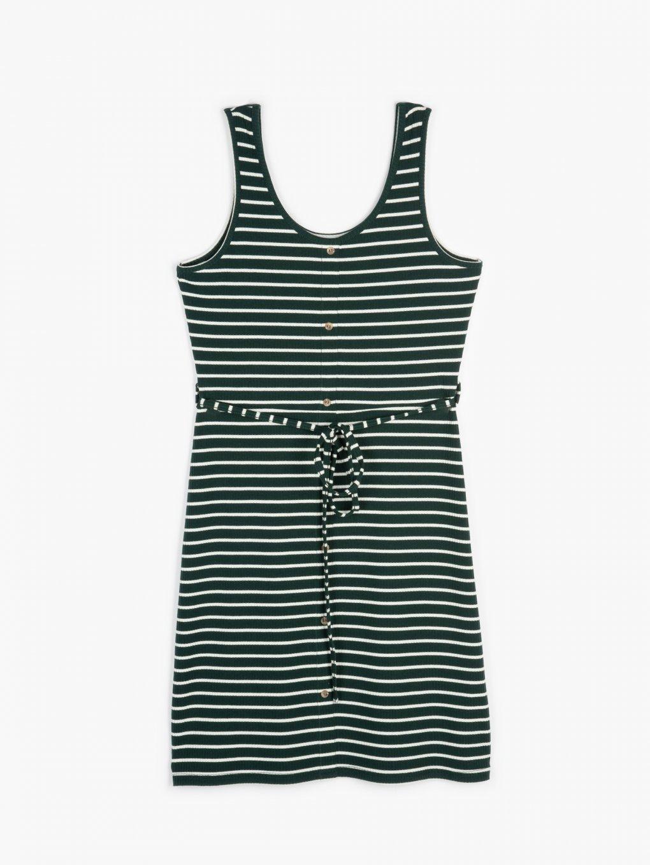 Proužkované žebrované šaty