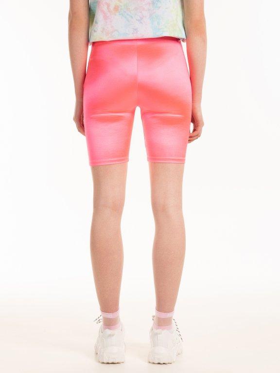 Lesklé cyklistické šortky