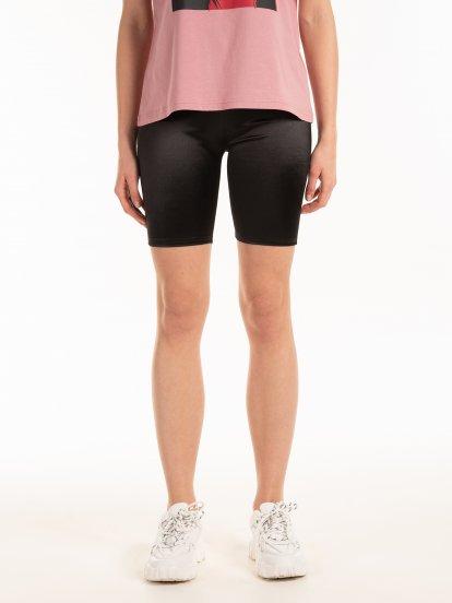 Glossy cycling shorts