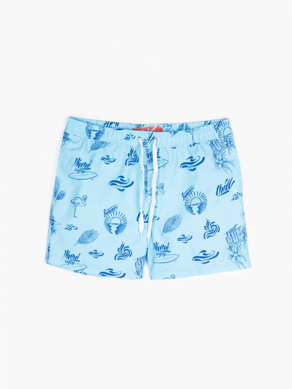 Potištěné plavecké šortky