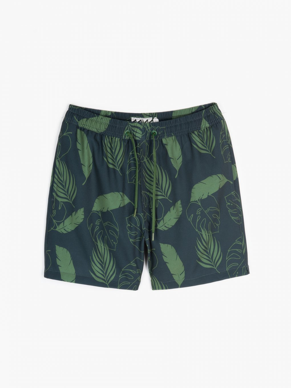 Stretch printed swim shorts
