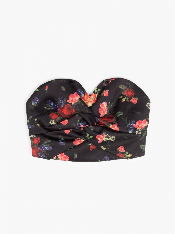 Floral corset top