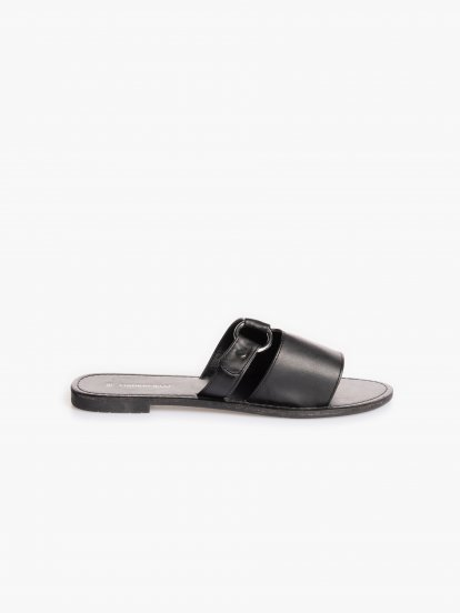 Vegan leather slides