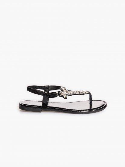 Sandály s kamínky