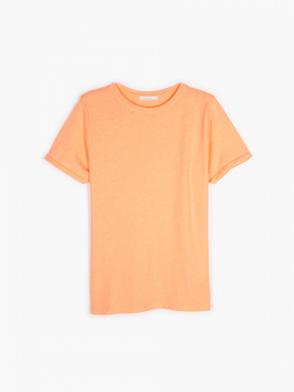 Neónové tričko z bavlnenej zmesi
