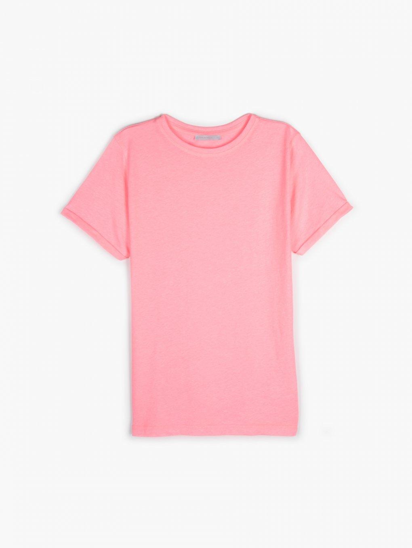 Neonowa koszulka wykonana z mieszanki bawełny
