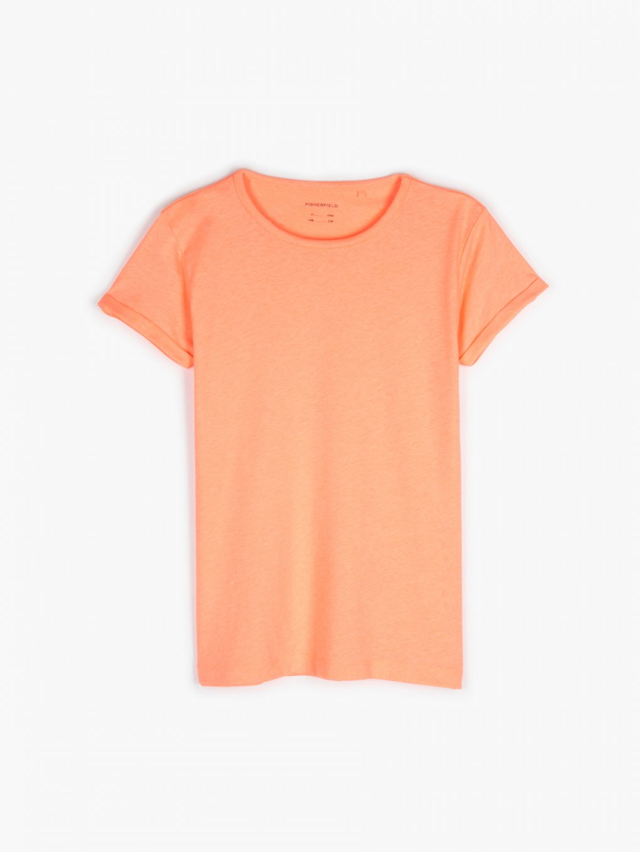 Cotton blend neon t-shirt