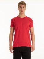 Základné bavlnené tričko slim fit