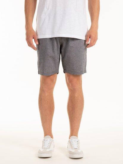 Regular fit cotton shorts