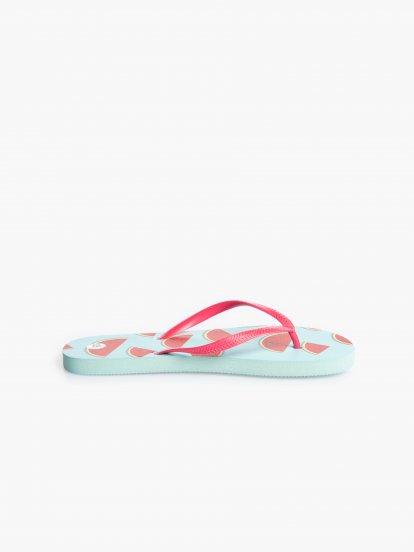 Plážové pantofle s potiskem