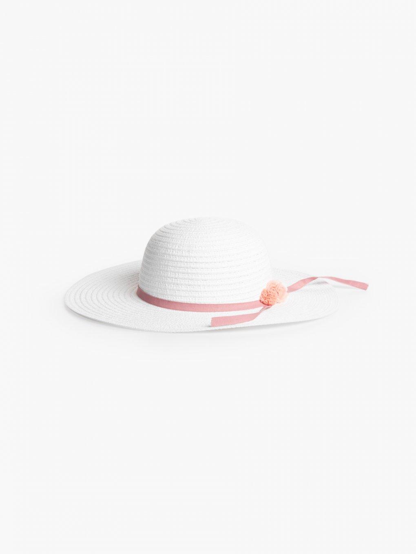 Pamela hat with pom-poms