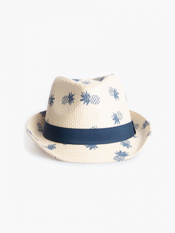 Fedora hat with print