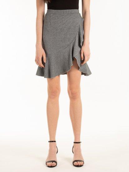 Skirt with ruffle on hem