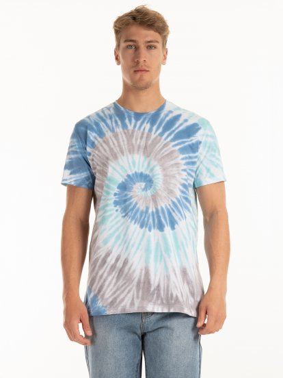 Bawełniana koszulka batik
