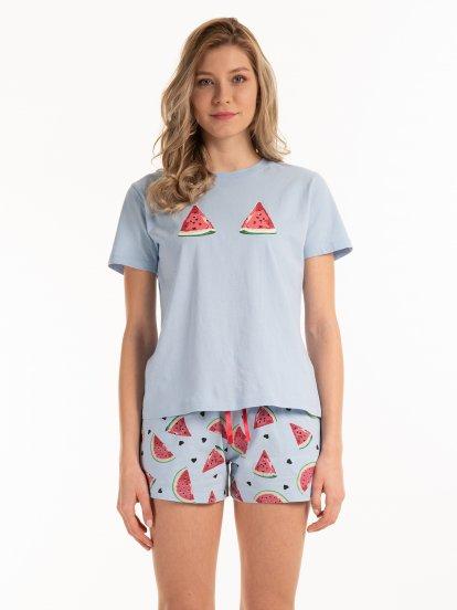 Bavlněné pyžamové tričko