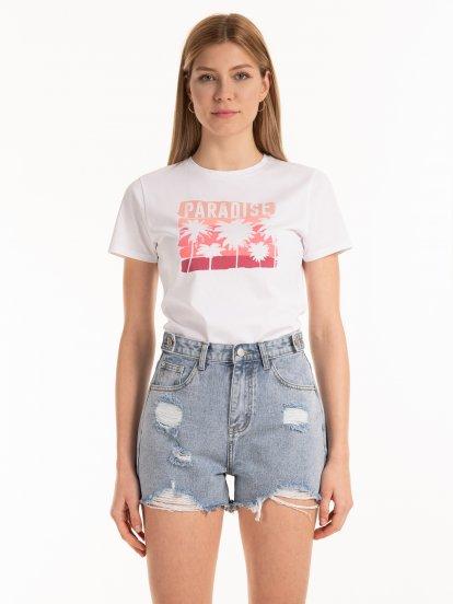 Bavlněné tričko s potiskem