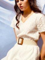 Sukienka z bawełnianej koronki