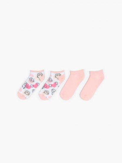 Dva páry členkových ponožiek