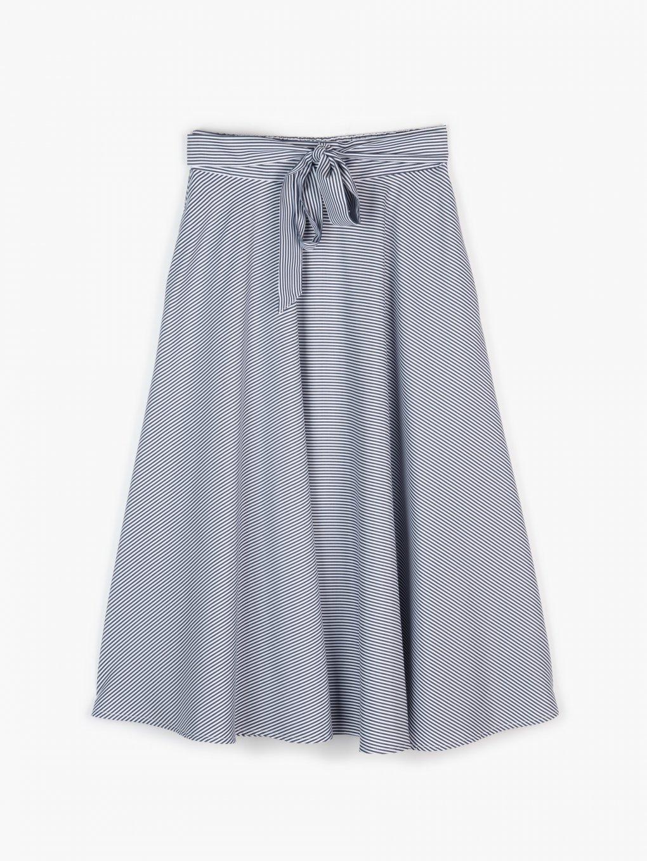 Proužkovaná áčková sukně