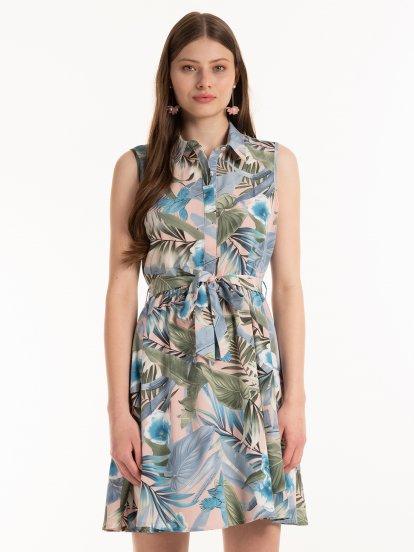 Šaty s květovaným potiskem