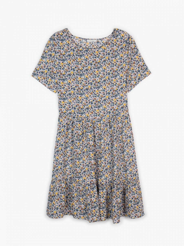 Viskózové květované šaty