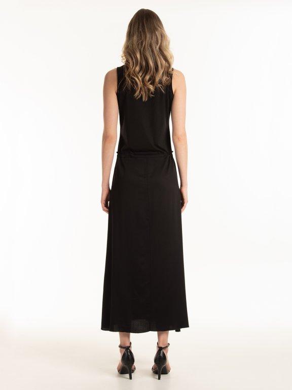 Dlhé šaty bez rukávov