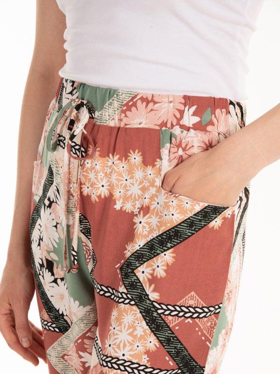 Nohavice harem s potlačou