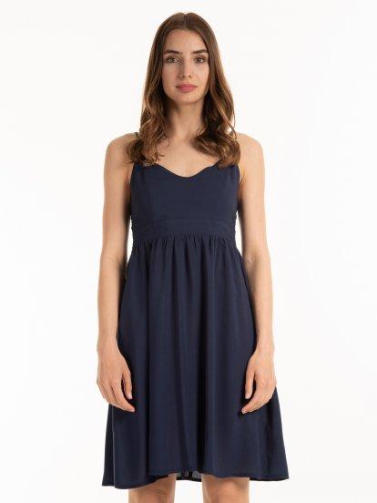 Viskózové šaty na ramienka