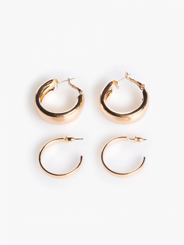 2 pairs of hoop earrings