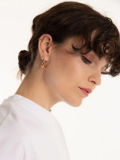 3 pairs of hoop earrings