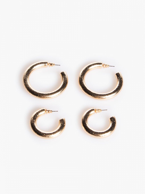 2 pairs hoop earrings