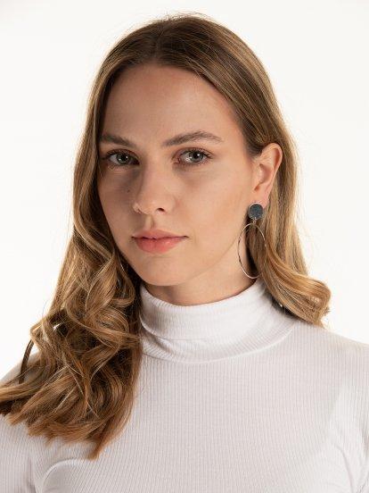 Long drop earrings