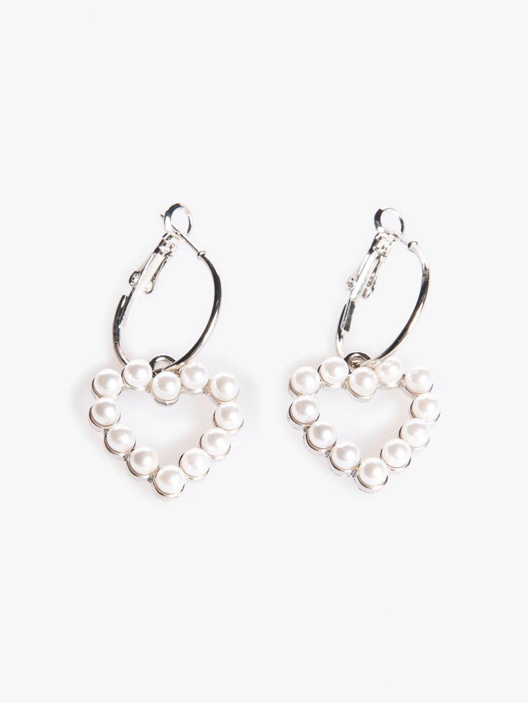 Hoop earrings with pendant
