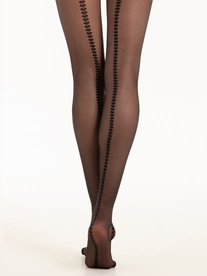 Heart line tights