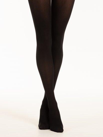 Ribbed tights