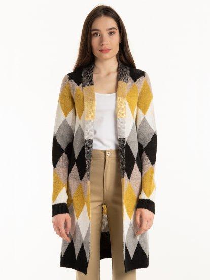 Argyle pattern cardigan