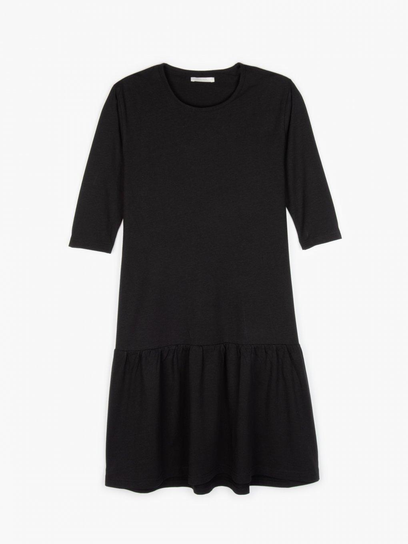 Bavlněné šaty s volánem