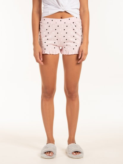 Polka dot print pyjama bottom