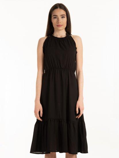 Černé šifónové šaty