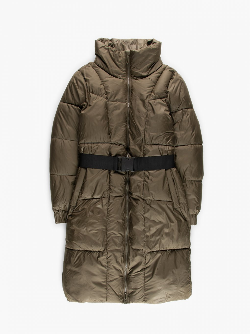Belted quilted jacket
