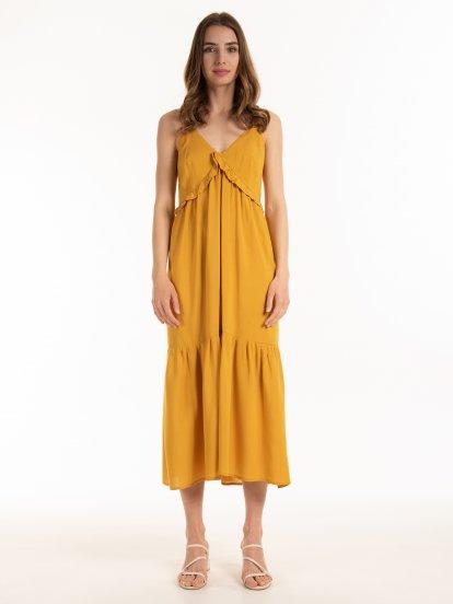 Dlouhé viskózové šaty
