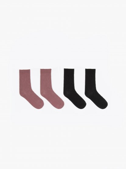 2 pack structured socks