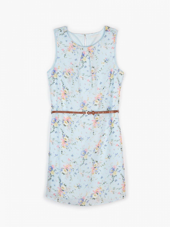 Květované šaty s páskem