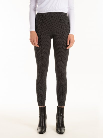 Polka dot skinny trousers