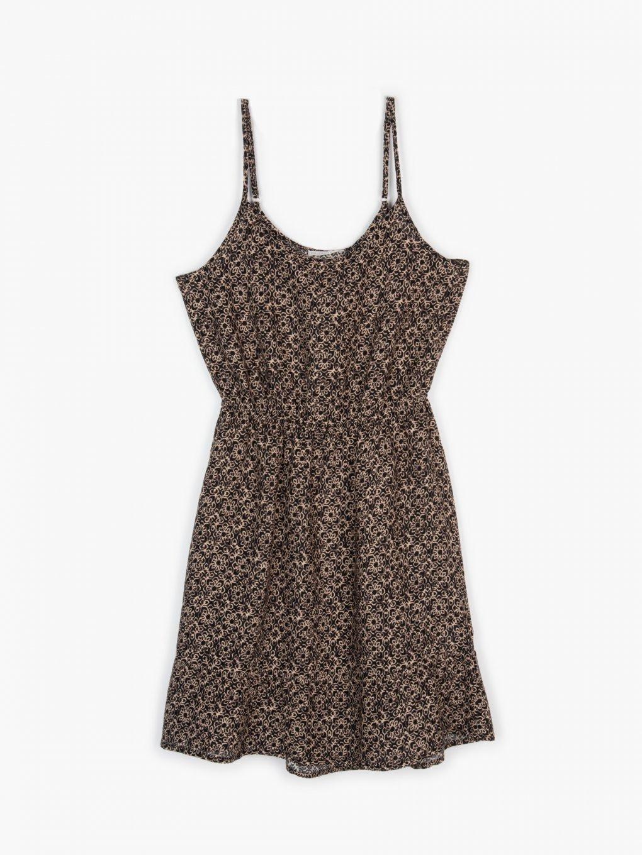 Sukienka z nadrukiem na ramiączkach