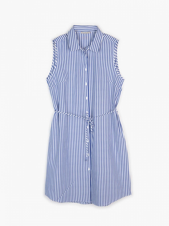 Proužkované košilové šaty