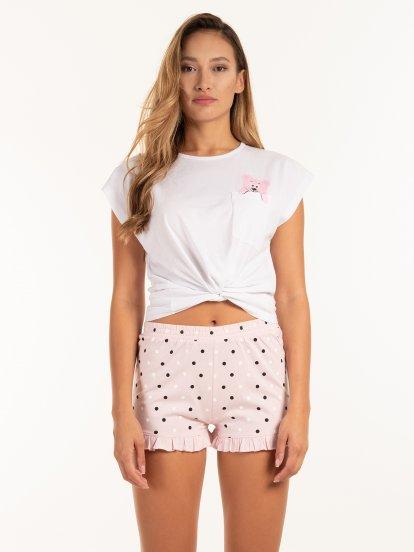Pyžamové tričko s potiskem