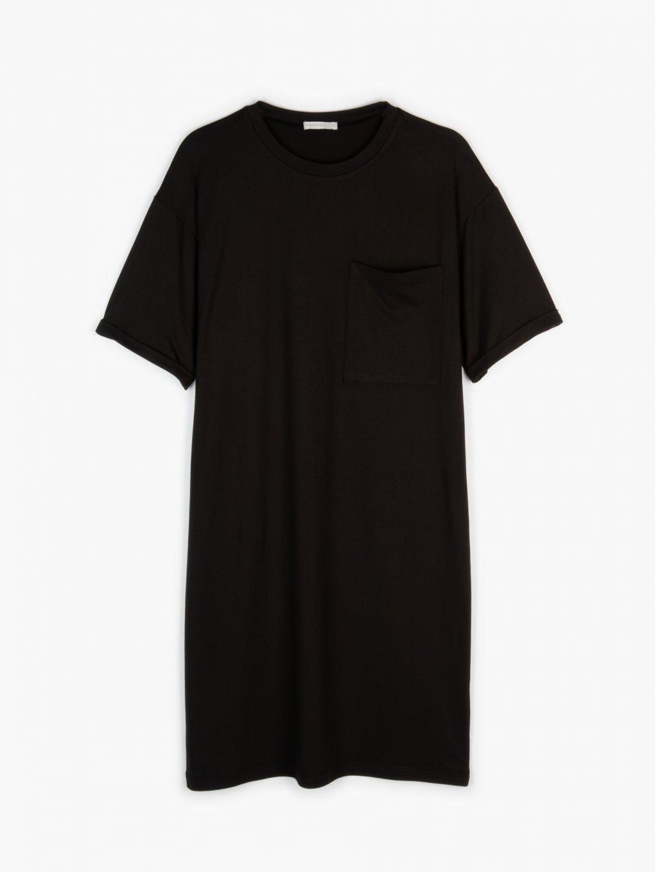 Tričkové šaty s náprsní kapsou