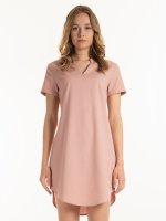 Linen blend tunic dress