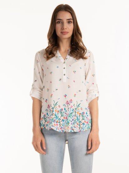 Viscose floral blouse